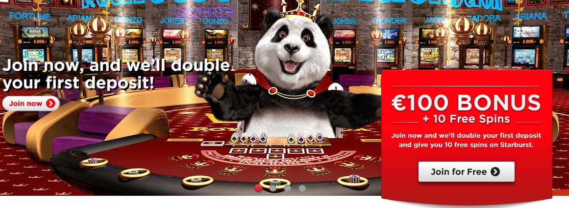 Royal Panda Casino front
